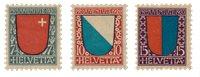 Schweiz 1920 - Michel 153-55 - Postfrisk