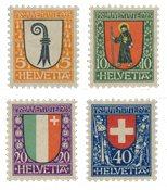 Schweiz 1923 - Michel 185/88 - Postfrisk