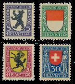 Schweiz 1924 - Michel 209/12 - Postfrisk