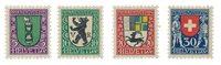 Schweiz 1925 - Michel 214/17 - Postfrisk