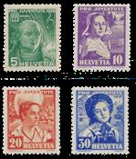 Schweiz 1936 - Michel 306/09 - Postfrisk