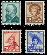 Suisse 1940 - Michel 373/76 - Neuf