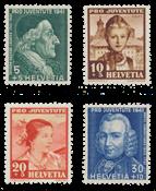 Suisse 1941 - Michel 399/402 - Neuf