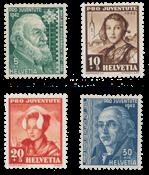Suisse 1942 - Michel 412/15 - Neuf