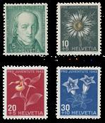 Suisse 1943 - Michel 424/27 - Neuf