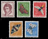 Schweiz 1955 - Michel 618/22 - Postfrisk