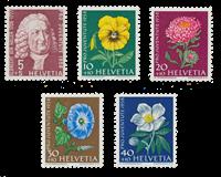 Suisse 1958 - Michel 663/67 - Neuf
