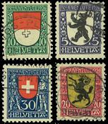 Schweiz 1924 - Michel 209/12 - Stemplet