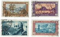 Schweiz 1929 - Michel 235/38 - Stemplet