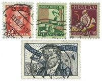 Schweiz 1927 - Michel 222/25 - Stemplet