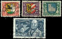 Schweiz 1930 - Michel 241-44 - Stemplet