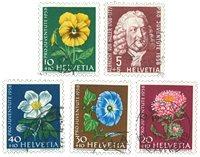 Suisse 1958 - Michel 663/67 - Oblitéré