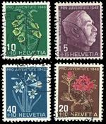 Schweiz 1948 - Michel 514/17 - Stemplet