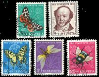 Schweiz 1954 - Michel 602/06 - Stemplet