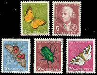 Suisse 1957 - Michel 648/52 - Oblitéré