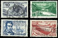 Schweiz 1931 - Michel 246/49 - Stemplet