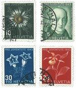 Schweiz 1943 - Michel 424/27 - Stemplet