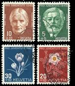 Suisse 1945 - Michel 465/68 - Oblitéré