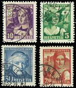Schweiz 1933 - Michel 266/69 - Stemplet