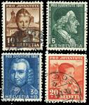 Suisse 1941 - Michel 399/402 - Oblitéré