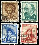 Suisse 1940 - Michel 373/76 - Oblitéré