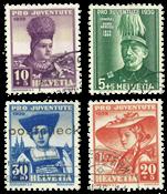 Schweiz 1939 - Michel 359/62 - Stemplet