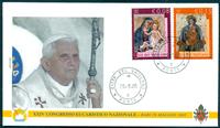 Vatican - 5 enveloppes - Les voyages du Pape