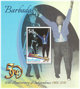Barbados - Independence 50 years - Mint souvenir sheet