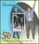 Barbados - 50 år med uafhængighed - Postfrisk miniark