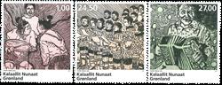 Grønland - Grønlandsk musik - Postfrisk sæt 3v