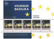 Netherlands - Capitals in Europe, Lithuania Vilnius - Mint souvenir sheet