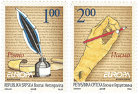 Serbia - Europa Cept 08, The Letter - Mint set 2v