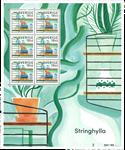 Sverige - Stringhylde - Souvenirark - Souvenirark med 6 mærker.