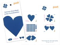 Finland - Blue Heart - Mint booklet
