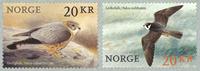 Norge - Jagtfalke - Postfrisk sæt 2v