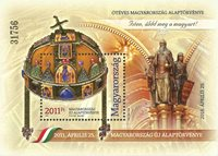 Hongrie - La Constitution - Bloc-feuillet neuf avec surcharge