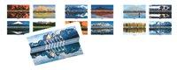 法国邮票 2017 世界风景--倒影 小本票 外国邮票 邮票收藏