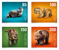 Switzerland - Baby animals - Mint set 4v