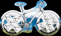 Schweiz - 200 året for cykling - Postfrisk ark