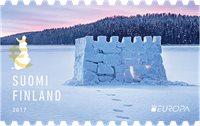 Finlande - Château en neige - Europa 2017 - Timbre neuf