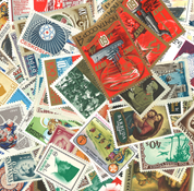 World  300 different mint stamps