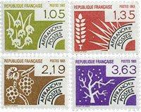 France - YT PO178-81 - Préoblitéré