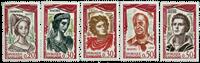 Frankrig - YT1301-1305 - Postfrisk