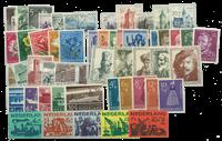 Nederland - Zomerzegels 1950-1959 postfris, compleet