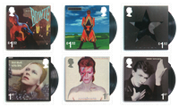 England - David Bowie - Postfrisk sæt 6v