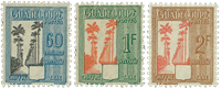 Guadeloupe postage 38-40, All Dumanoir