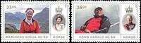 Norge - Kong Harald og Dronning Sonja 80 år - Postfrisk sæt 2v