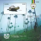 Colombia - Fugle - Postfrisk miniark