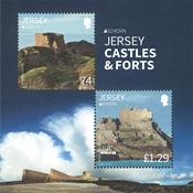 Jersey - Europa 2017 - Slotte og borge - Postfrisk miniark