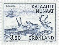 Groenland - Culture Esquimaude par les Européens -  3,50 kr. - Bleu